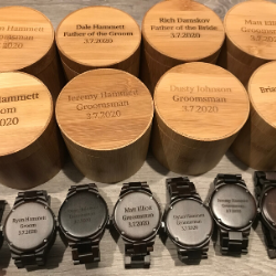 Custom Engraved Wood Watches