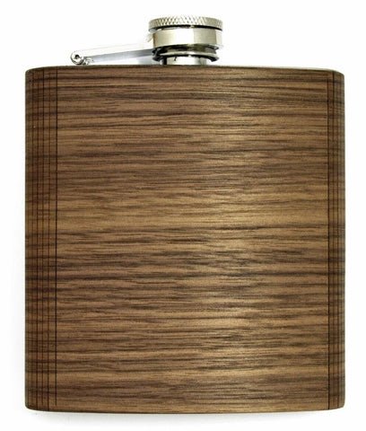 Walnut Wood Flask with Custom Engraving Option