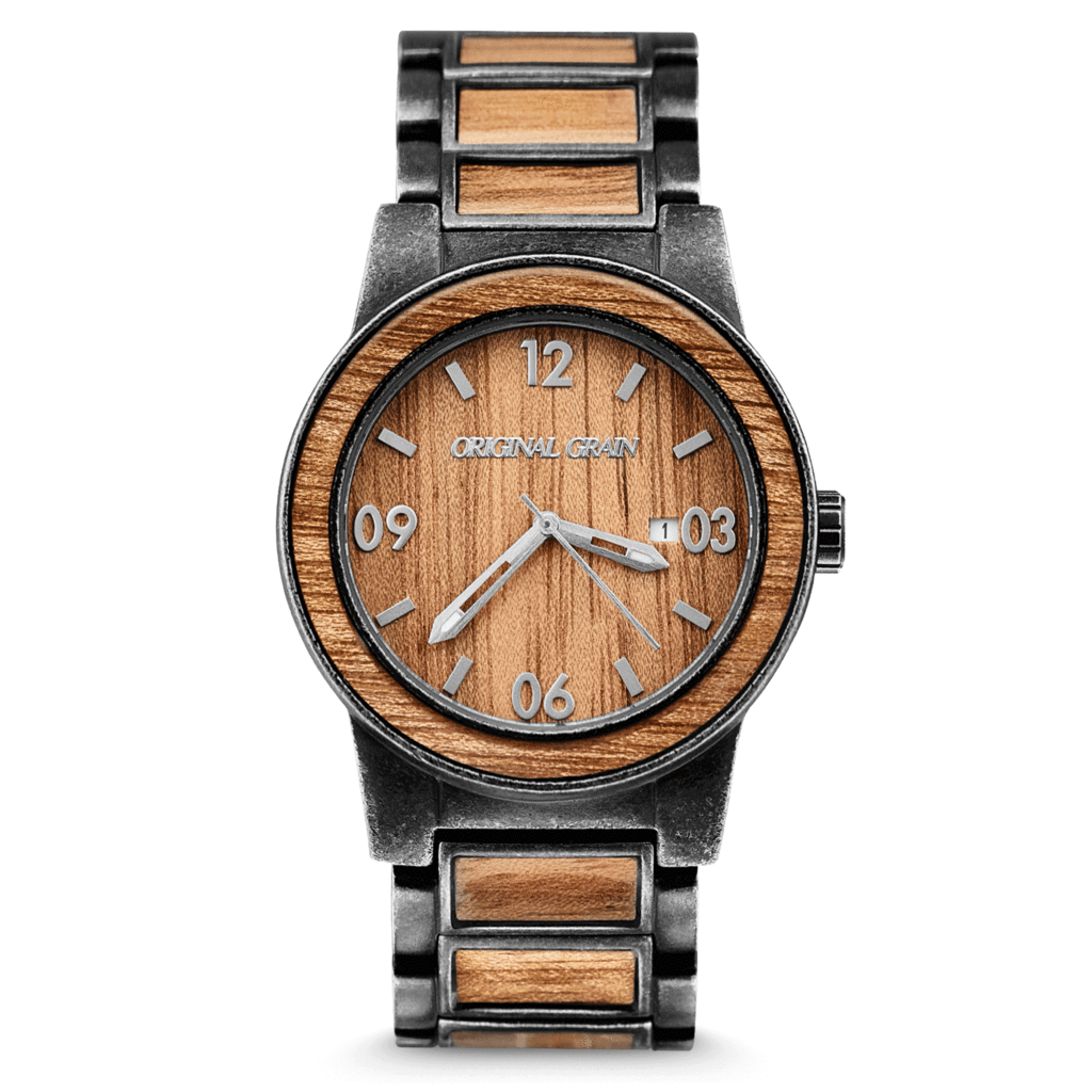watches rosewood black original classic wood steel grain watch the