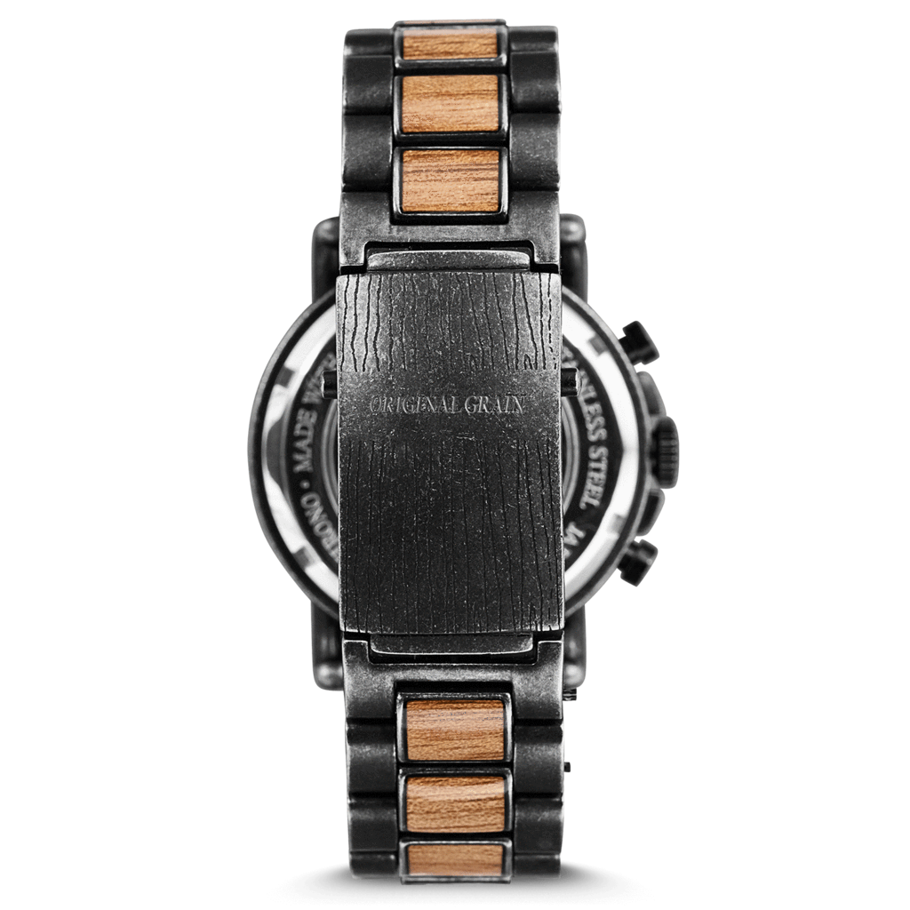 steel wood watch matte inlay black maple wrist original watches grain the maplewood classic