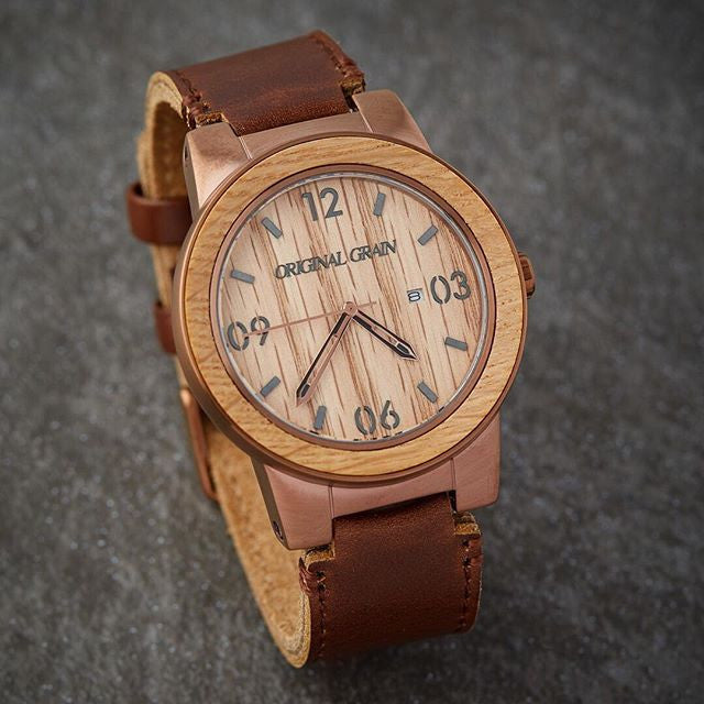 black by grain barrel original n watch whiskey stainless wood watches steel collection products