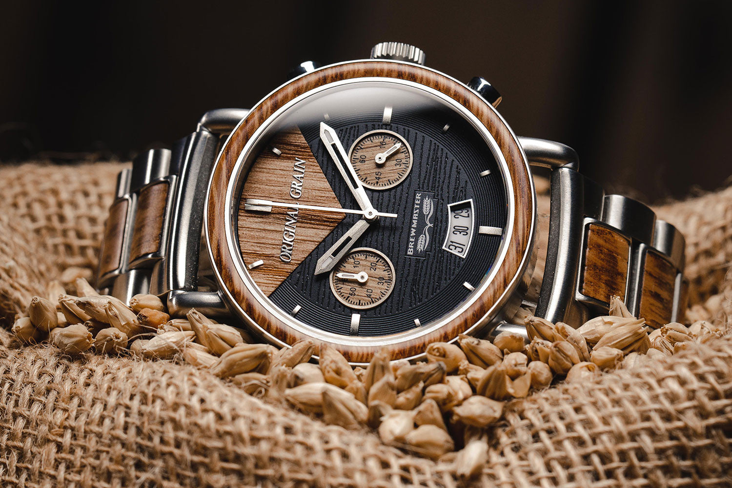 dark light madecool and watch watches inlay with walnut wooden black ebony faces wood maple product