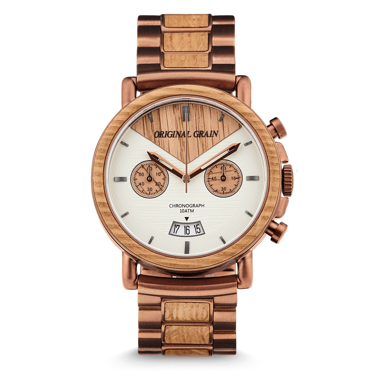 natural grain watch watches original rosewood wood steel all stainless