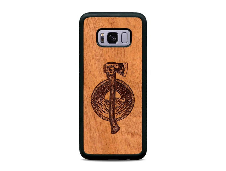 new style 12391 13443 Liam Hoffman Axe - Wooden Samsung Galaxy Phone Case