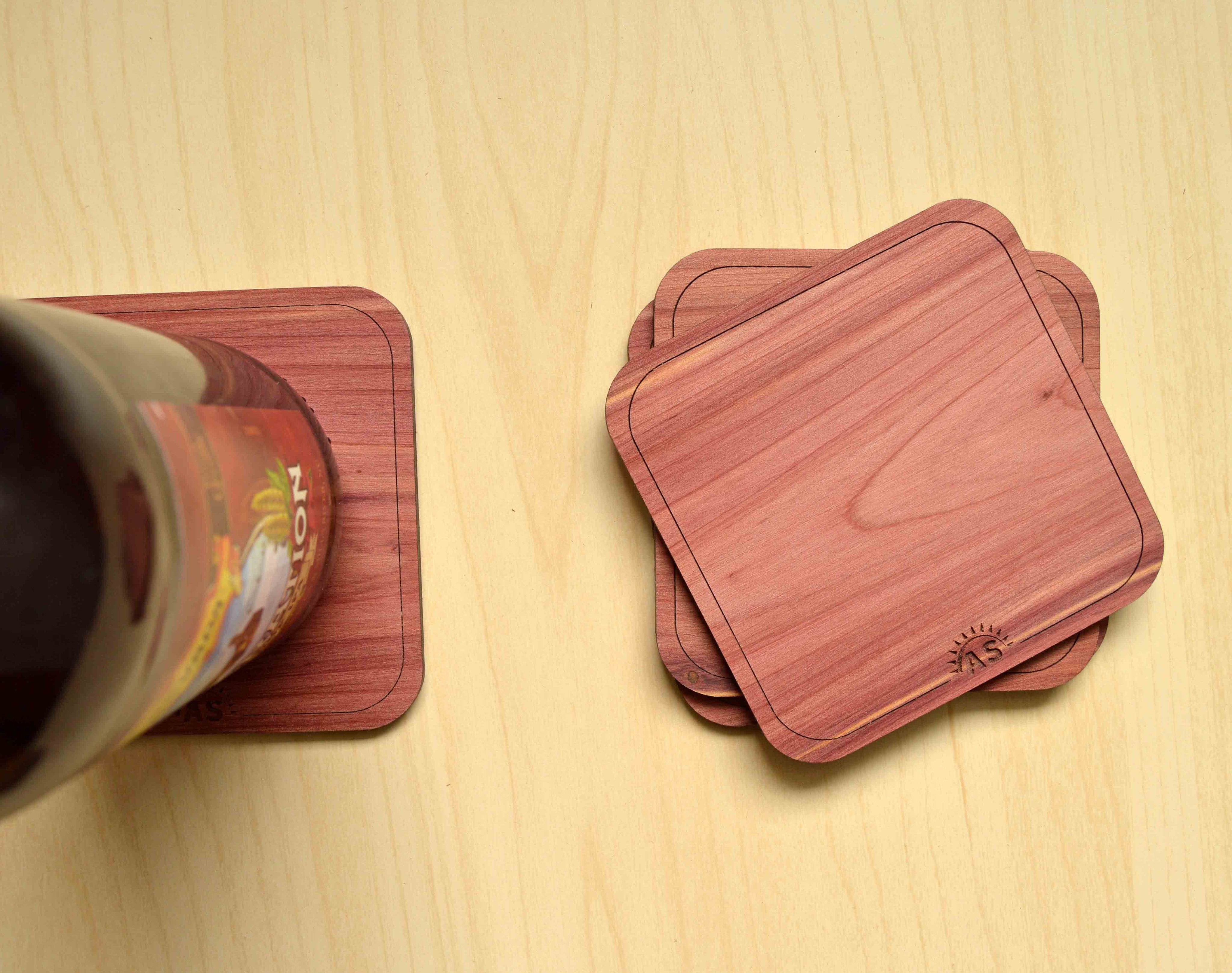 Made in USA - American Flag Wood Coasters from The Wood Reserve
