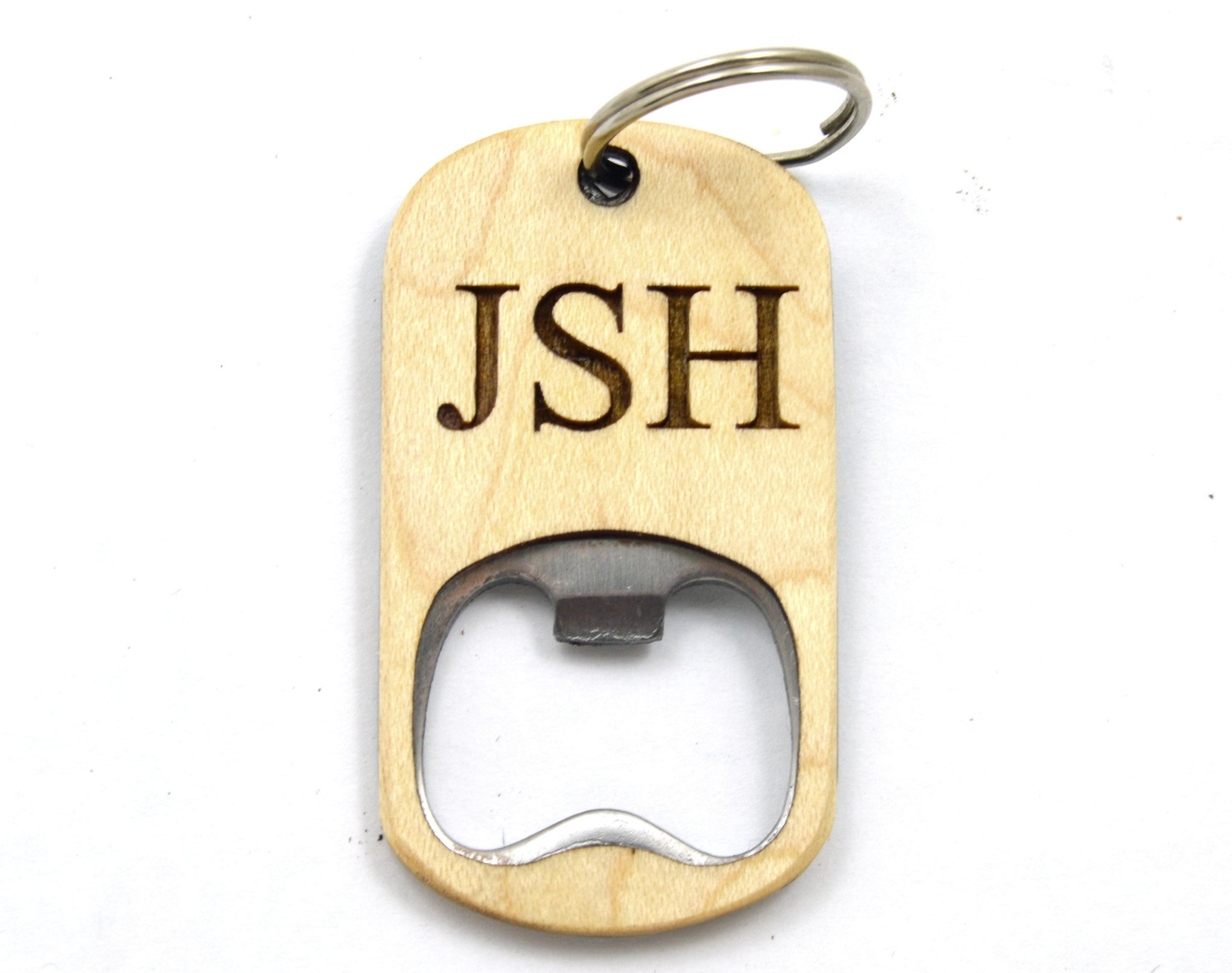 Custom Key Chain Wooden Bottle Opener from The Wood Reserve b569044b9e
