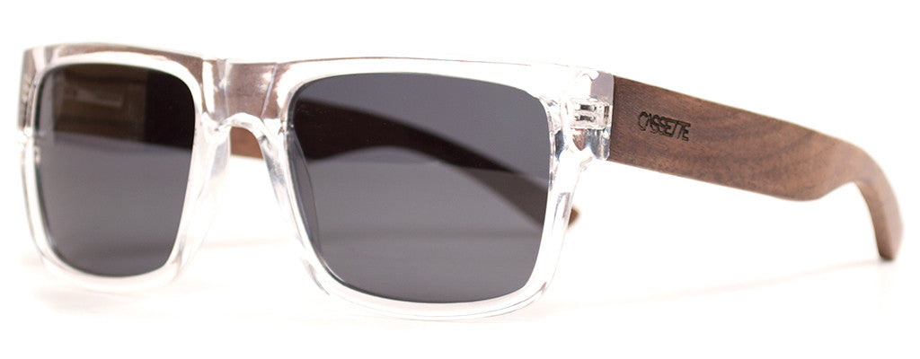 377846cba46a Walnut Wood Sunglasses with Smoke Black Polarized Lens from The Wood ...