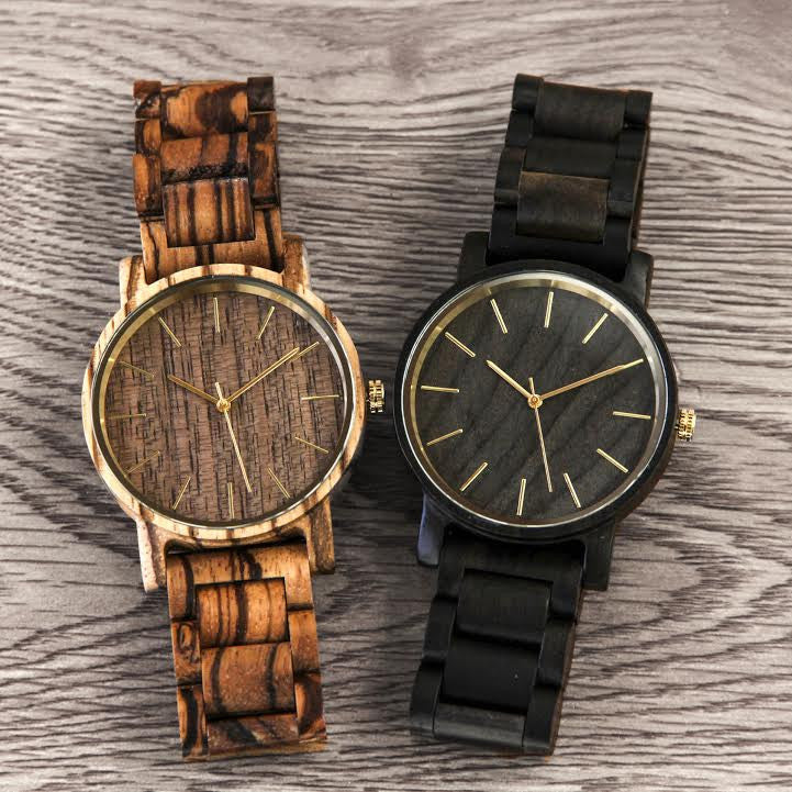 flat watch garwood web copper the clip products watches wood black images sandalwood