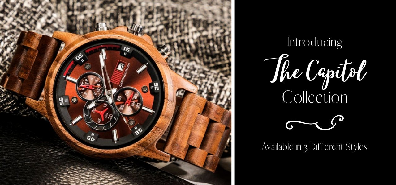The Original Grain Watch Collection. Crafted From Solid Wood & Stainless Steel