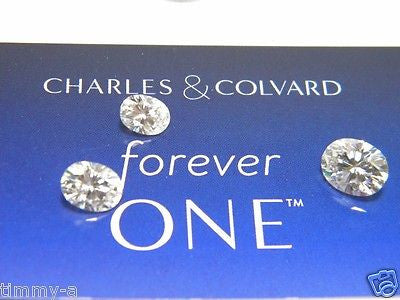 Forever One Moissanite  OVAL 6x4 mm  1/2 carat equivalent Charles and Colvard Colorless D E F