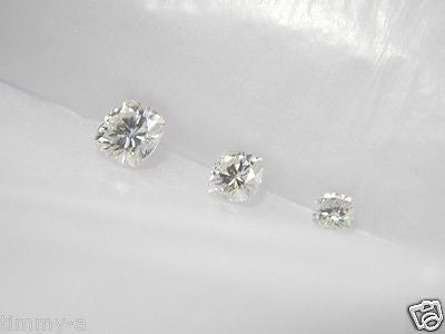 Forever One Moissanite Cushion 9mm 3+ ct equivalent Charles Colvard - DEF color