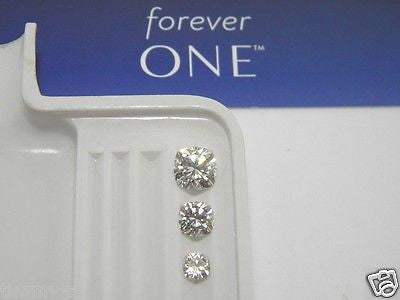 Forever One Moissanite Cushion 6mm 1 carat equivalent Charles & Colvard -Whitest Colorless D E F