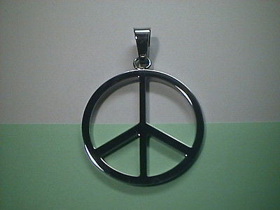 Peace Sign Stainless Steel 1.5 inches exact detail