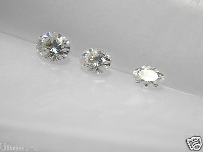 Forever One Moissanite  OVAL 8x6 mm 1.50 carat equivalent Charles and Colvard Colorless D E F