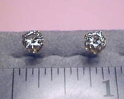 Moissanite Earrings 1 carat twt size  14K Yellow 4 prong, Charles and Colvard