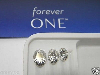 Forever One Moissanite OVAL 10x8 mm 3 ct equivt Charles Colvard Colorless DEF