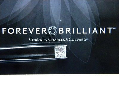 Forever Brilliant Moissanite Princess Square  1 ct 5.5mm Jewel Charles Colvard