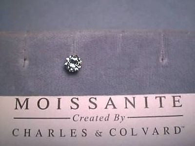 Moissanite Single Stud Earring .80 carat 6mm Rnd Screwback 6 prong 14K Yellow Gold