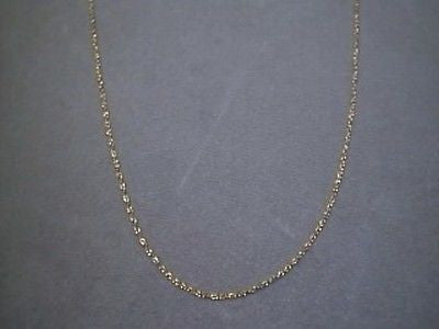 14K Yellow solid gold pendant link Chain 30 inches long petite fine