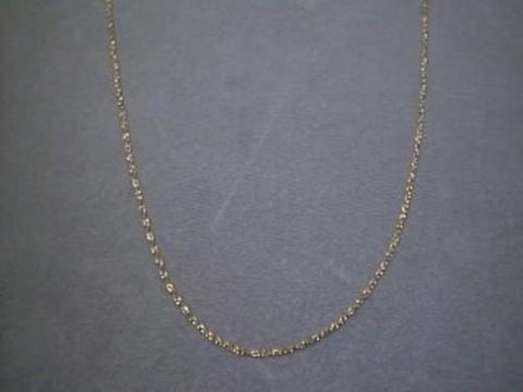 14K Yellow solid gold pendant link Chain 16 inches long petite fine