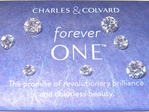 10mm Forever One Whitest  Moissanite  10mm Round Charles Colvard Forver One Colorless D E F