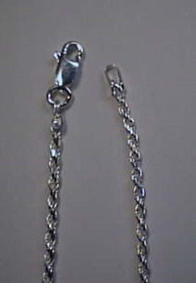 Rope Chain Sterling Silver 1.5mm Round  20 inches long