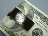 Money Clip PLATINUM USA $10 1/10th oz Eagle Coin, Solid 14K Solid Gold Clip