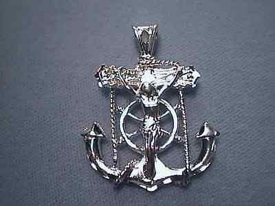 Mariners Cross Anchor Sterling Silver 1.5 inch