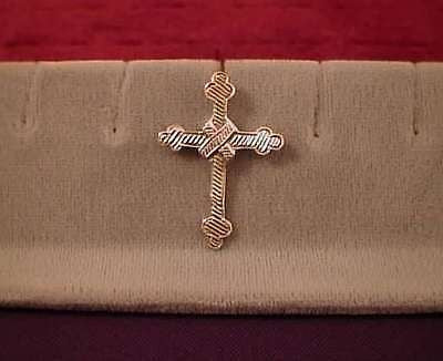 CROSS Sterling Silver 1 3/8ths inch Antique finish, Hidden Bail