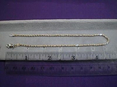 ANKLET 14K Yellow Rope Chain 9 inches  1.5mm thick