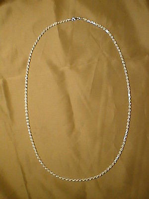 Silver Sterling  Rope Chain 3mm Round, 30 inches Long  Heavy