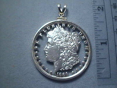 CUT COIN * Pendant *  US Silver Morgan Liberty Dollar