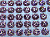 Cubic Zirconia Pink 8mm Round Brilliant 2 piece Lot Signity CZ Swarovski