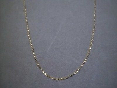 14K Yellow solid gold pendant link Chain 24 inches long  petite fine