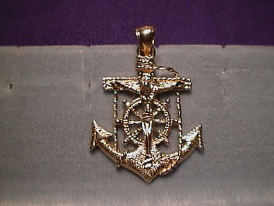Mariners Cross Anchor 1 1/2 inch XX Large 14K Yellow Gold