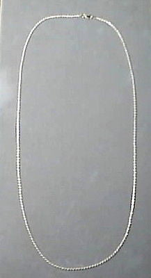 Rope Chain 30 inches long Sterling Silver 1.5mm round