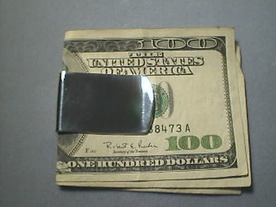 Money Clip Plain WIDE, Sterling Silver Engraveable