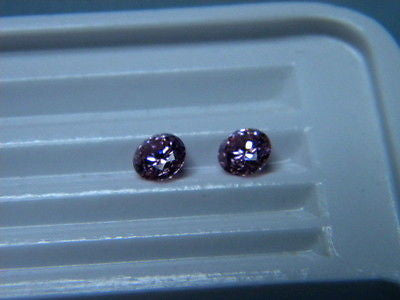 Cubic Zirconia Pink 6mm Round Brilliants 2 piece Lot, Signity CZs  Swarovski