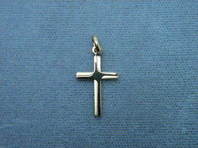 Cross 14K Yellow Small Cross 3/4 inch tall x 7/16 Bright & Frost Design Italy