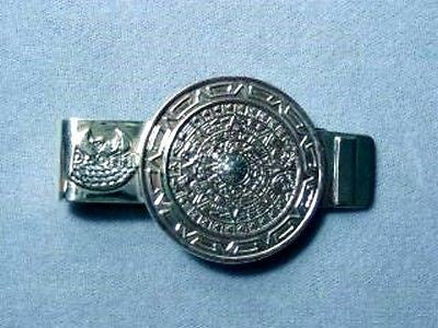 Money Clip Aztec Calendar Sterling Silver
