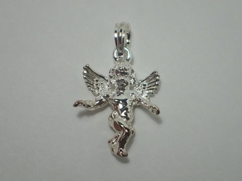 Copy of Angel Pendant Charm 3-D Guardian Angel Silver .925% Sterling