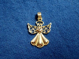 Angel Pendant  Guardian Angel 14K Solid Yellow Gold