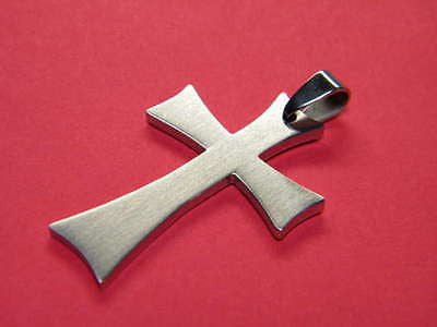 CROSS Stainless Steel 1 1 3/4 inches tall by 1 1/8th inch wide IRON CROSS