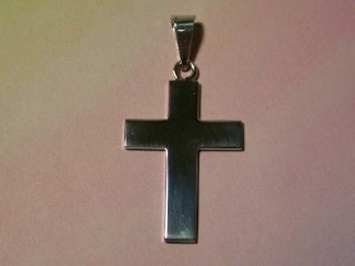 CROSS Plain  Sterling Silver  1 3/4 + inches  X Large Heavy