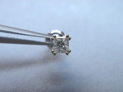 Diamond Princess single Earring .31 carat I1 G color , 8 prong octet screwback