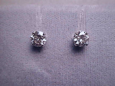 Moissanite Earrings 1/2 carat twt 14K Solid Gold Studs, Charles and Colvard