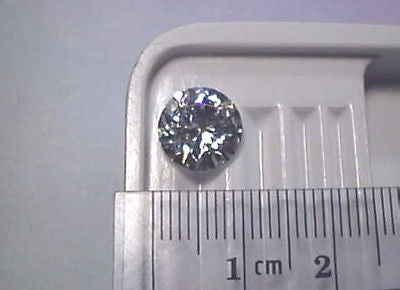 Cubic Zirconia 9.5mm 3 carat  Round Brilliant CZ