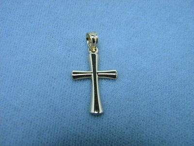 Cross 14K Yellow Solid Gold 3/4ths inch x 1/2 inch Tapered Beveled ends