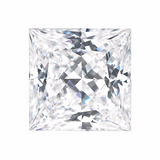 Forever One Moissanite PRINCESS Cut 2.8 carat 8mm Charles and Colvard  Colorles D E F