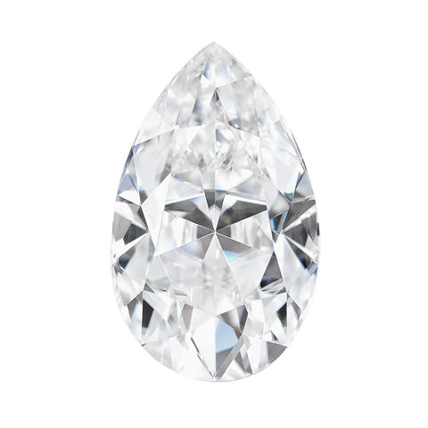 Forever One Moissanite Pear 10x7mm 2.10  Carat Jewel Charles & Colvard  DEF